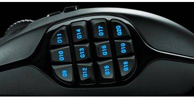 Logitech G600 MMO макро клавиши