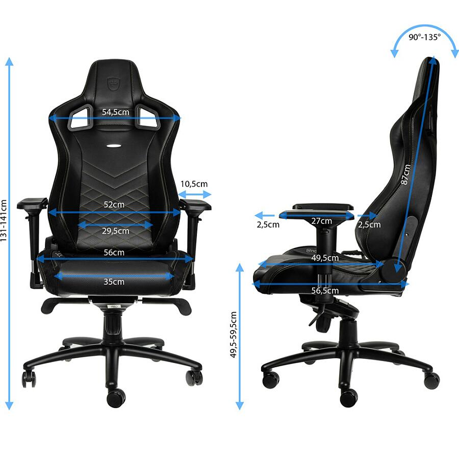 Игровое кресло Noblechairs EPIC Black/Green - фото 6