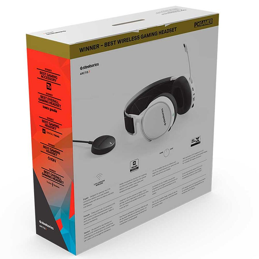 Наушники SteelSeries Arctis 7 White 2019 Edition - фото 8