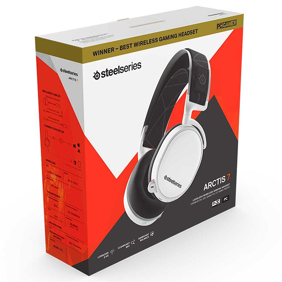 Наушники SteelSeries Arctis 7 White 2019 Edition - фото 7