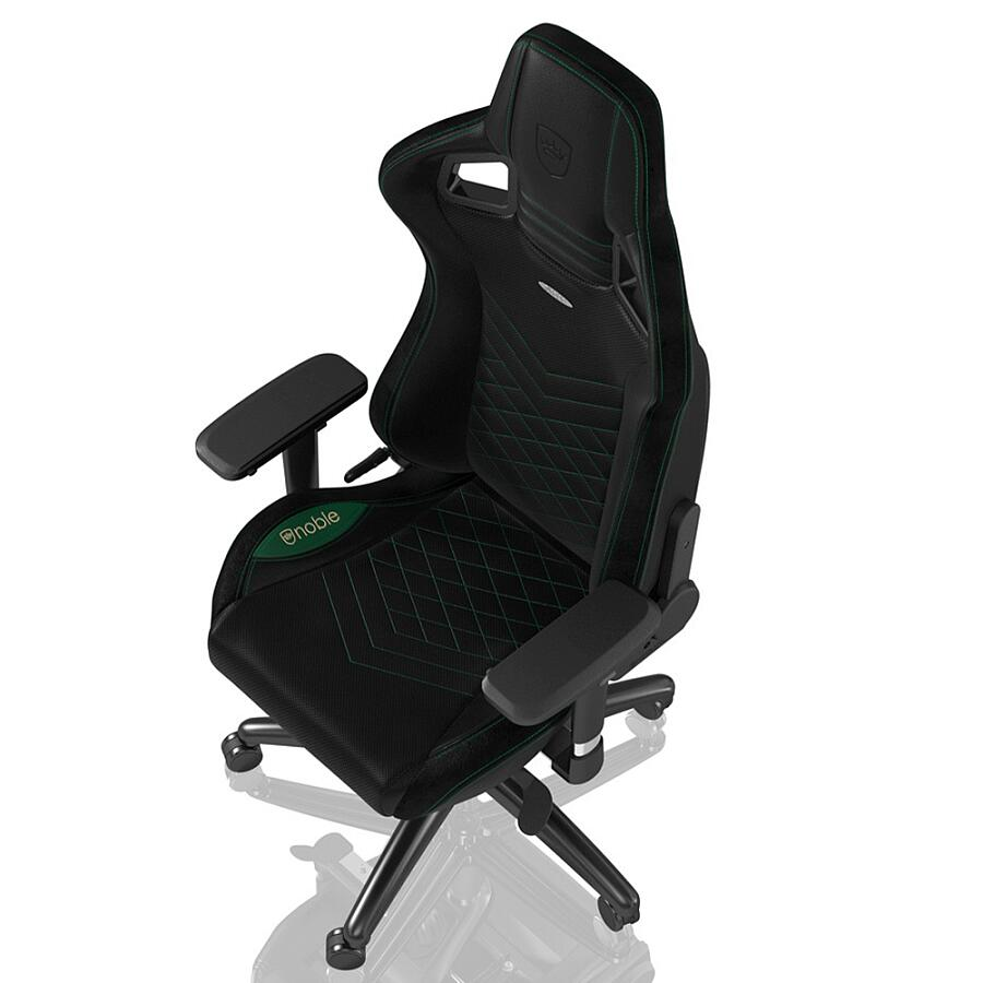 Игровое кресло Noblechairs EPIC Black/Green - фото 4
