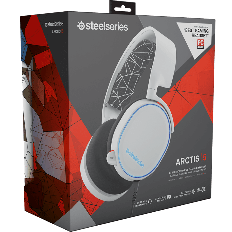 Наушники SteelSeries Arctis 5 White - фото 7