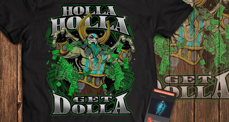 Футболка Holla Get Dolla - Dota 2 - фото 2