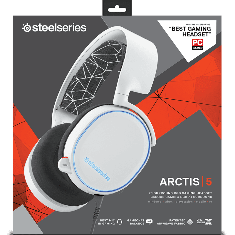 Наушники SteelSeries Arctis 5 White - фото 8