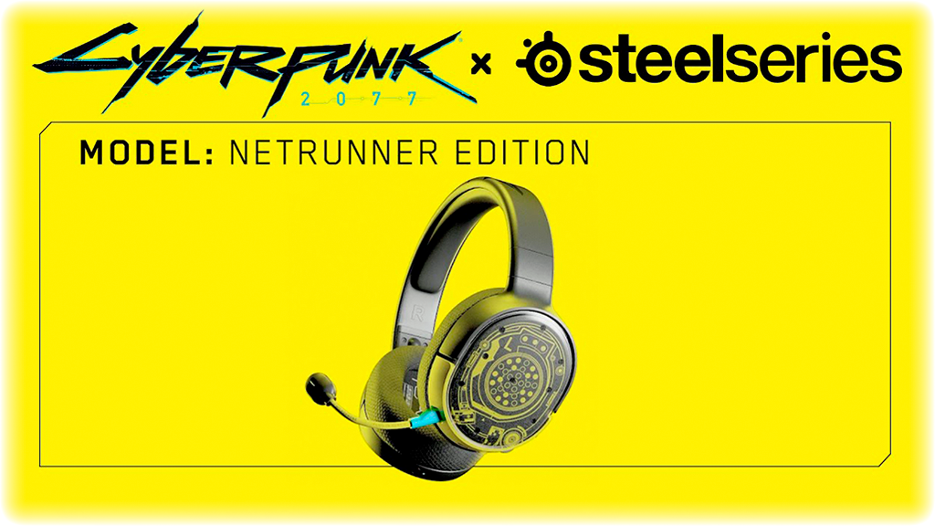 SteelSeries Arctis 1 Wireless: Cyberpunk 2077 Edition Netrunner эксклюзивно в Cyberlife