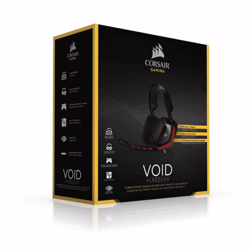Corsair VOID Surround Hybrid Stereo Red - фото 2