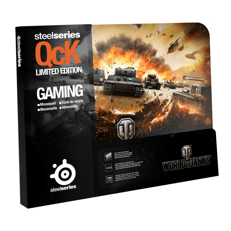 Коврик для мыши SteelSeries QcK World of Tanks Tiger Edition - фото 2