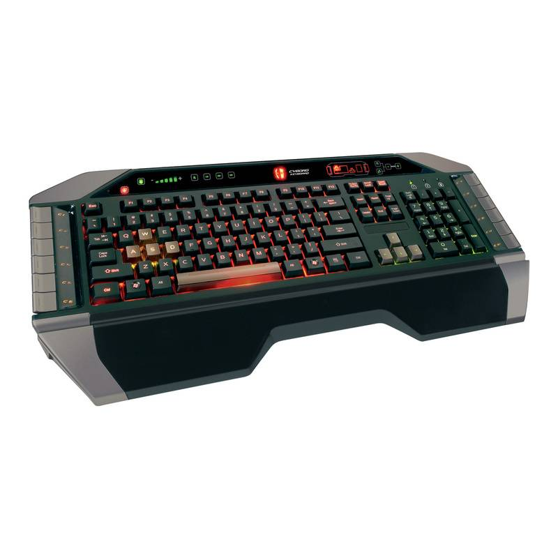 Mad Catz Cyborg V.7 Keyboard Black-Grey USB - фото 2