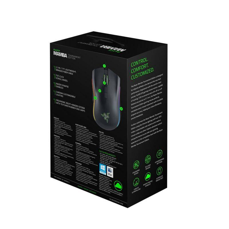 Мышь Razer Mamba Tournament Edition - фото 8