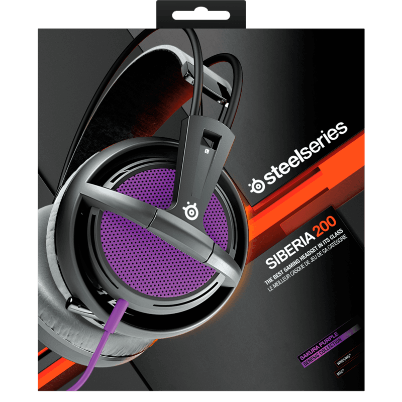 Наушники SteelSeries Siberia 200 Sakura Purple - фото 7