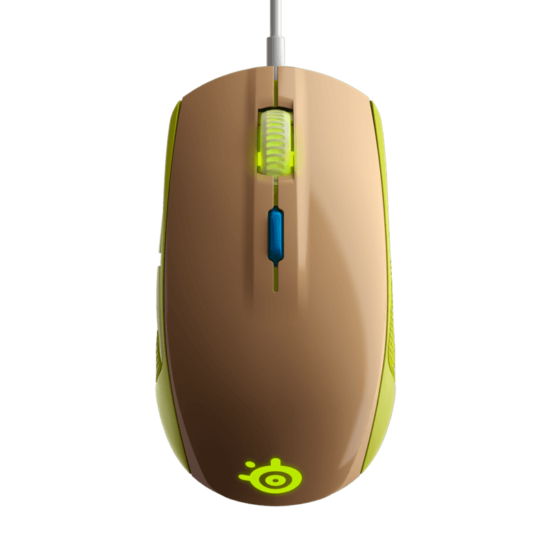 Мышь SteelSeries Rival 100 Gaia Green - фото 3
