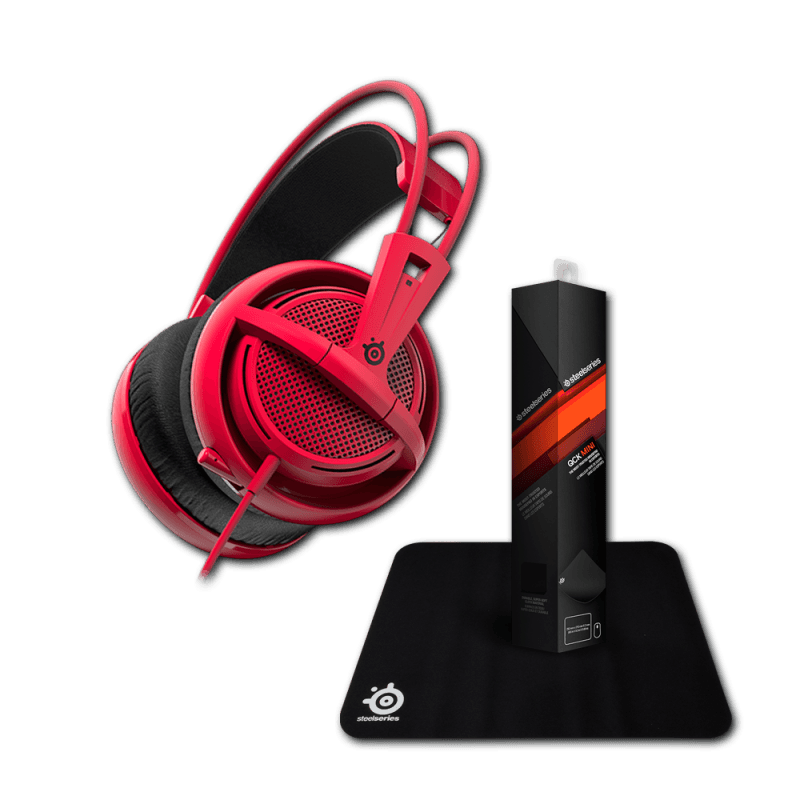 Гарнитура Siberia 200 Forged Red + коврик Steelseries Qck Mini - фото 2