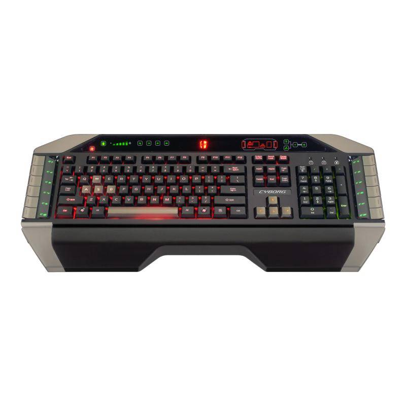 Mad Catz Cyborg V.7 Keyboard Black-Grey USB - фото 1