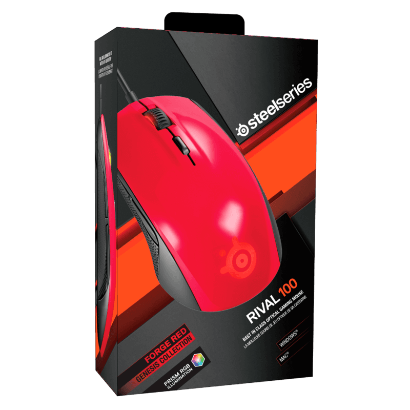 Мышь SteelSeries Rival 100 Forged Red - фото 5