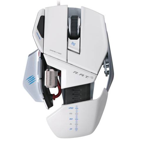 Mad Catz R.A.T. 5 Gloss White - фото 3