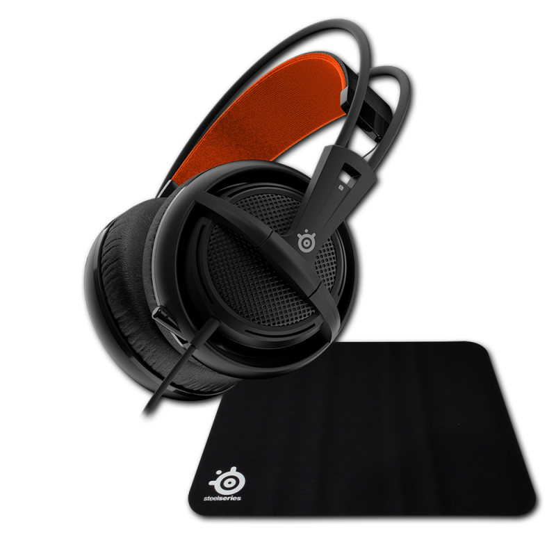 SteelSeries Siberia 200 Black + Steelseries Qck Mini - фото 1