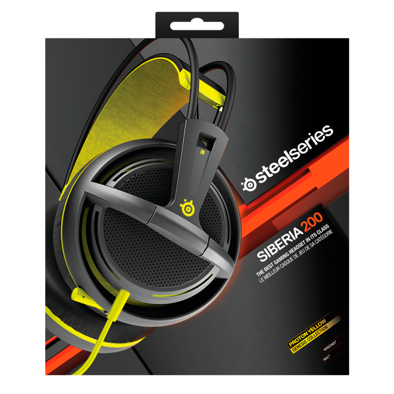 SteelSeries Siberia 200 Proton Yellow - фото 7