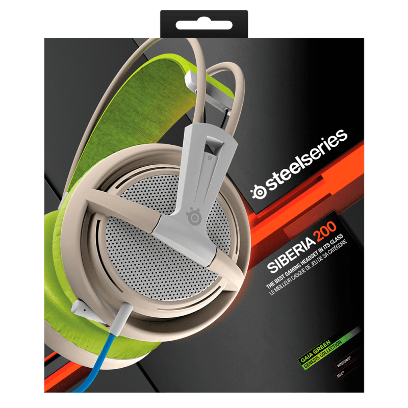 Наушники SteelSeries Siberia 200 Gaia Green - фото 7