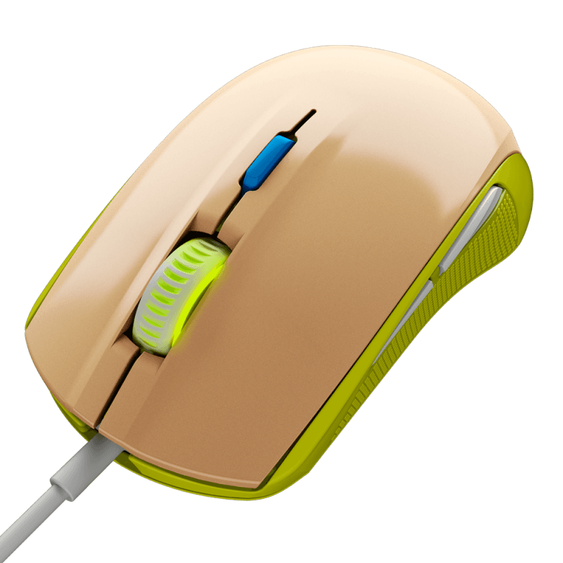 Мышь SteelSeries Rival 100 Gaia Green - фото 1
