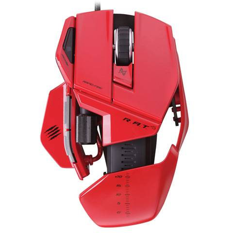Mad Catz R.A.T. 5 Gloss Red - фото 3