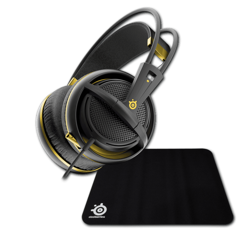 SteelSeries Siberia 200 Alchemy Gold + Steelseries Qck Mini - фото 1