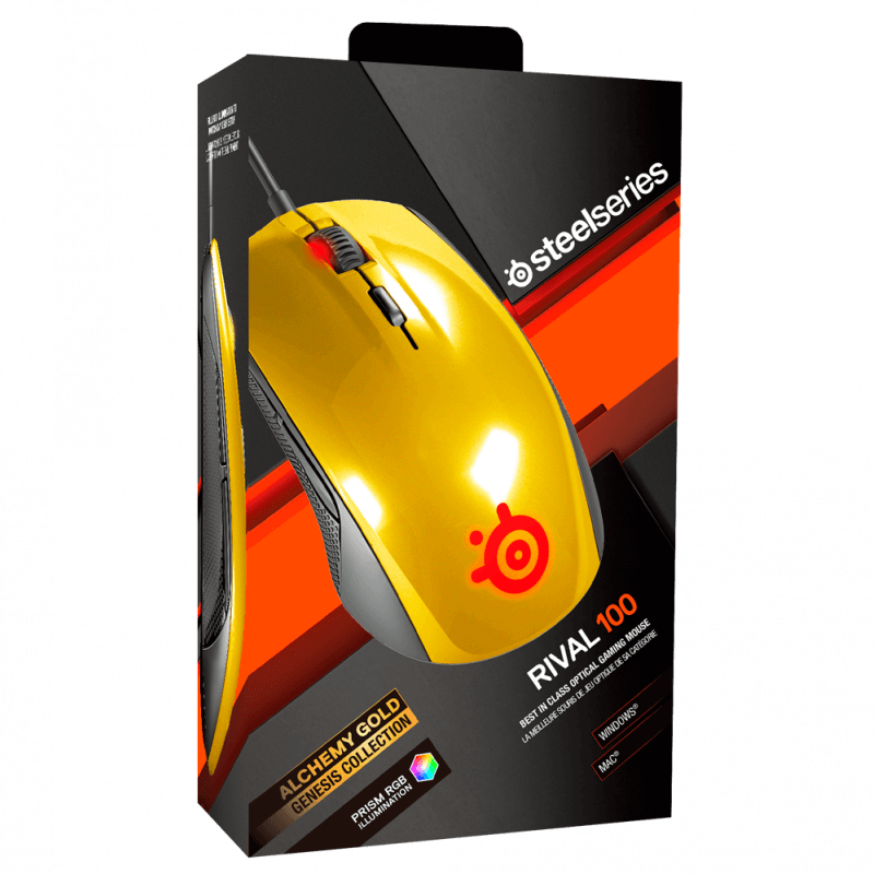 Мышь Steelseries Rival 100 Alchemy Gold - фото 5
