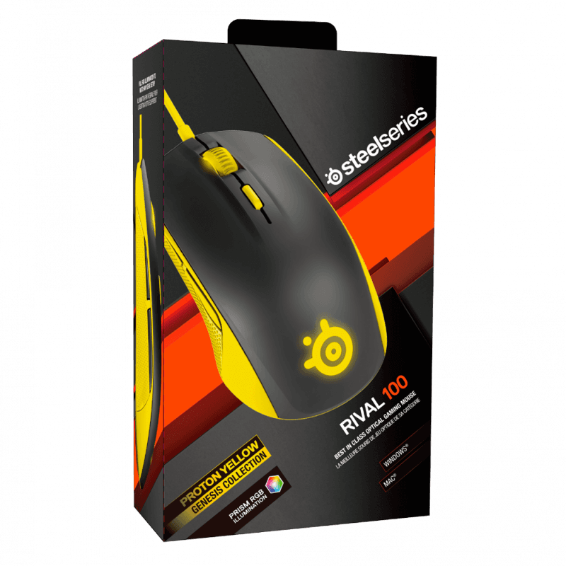 SteelSeries Rival 100 Proton Yellow - фото 5