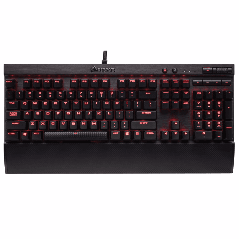 Клавиатура Corsair K70 LUX Cherry MX Red Black USB - фото 2