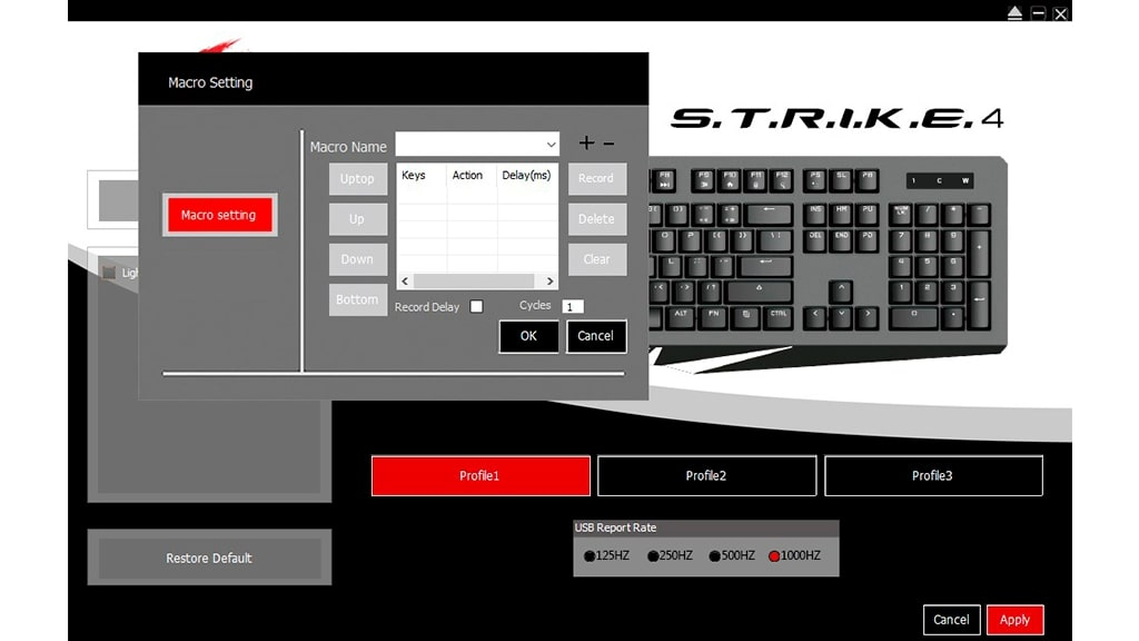 Программное обеспечение Mad Catz S.T.R.I.K.E. 4 Cherry MX Red