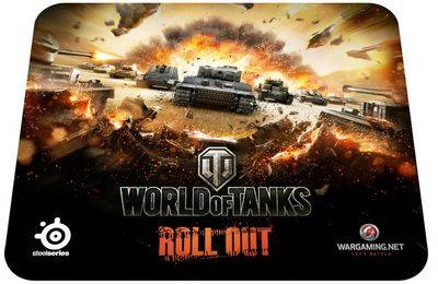 Игровые коврики SteelSeries QcK World of Tanks Tiger Edition и World of Tanks Edition