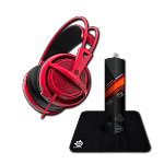 Набор SteelSeries Siberia 200 Forged Red + Steelseries Qck Mini