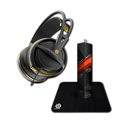 Гарнитура Siberia 200 Alchemy Gold + коврик Steelseries Qck Mini