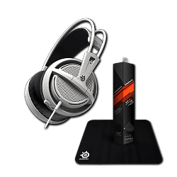 Гарнитура Siberia 200 White + коврик Steelseries Qck Mini