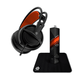 Гарнитура Siberia 200 Black + коврик Steelseries Qck Mini