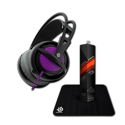Гарнитура Siberia 200 Sakura Purple + коврик Steelseries Qck Mini