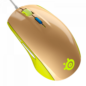 Мышь SteelSeries Rival 100 Gaia Green - фото 2